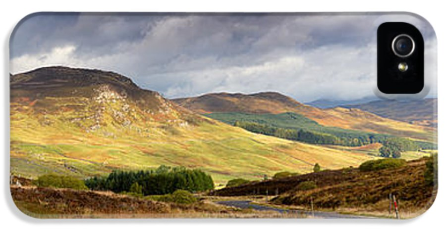 Road IPhone 5 Case featuring the photograph Storm Clouds Over The Glen by Jane Rix