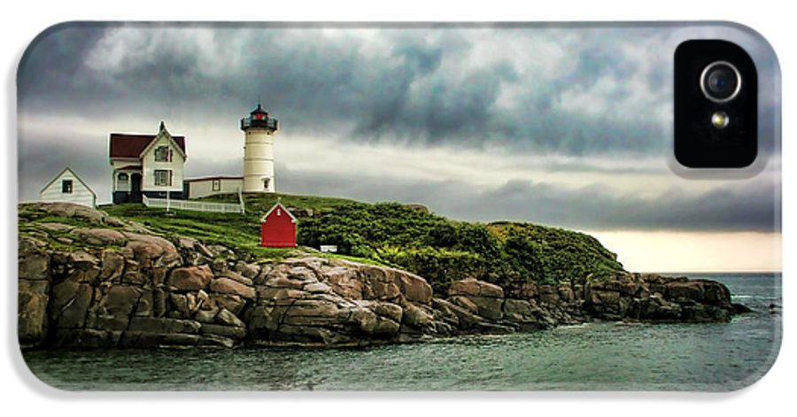Nubble IPhone 5 Case featuring the photograph Storm Rolling In by Heather Applegate
