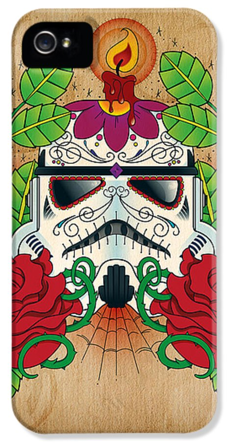 Storm Trooper IPhone 5 Case featuring the photograph Storm Trooper Sugar Skull by Samuel Whitton