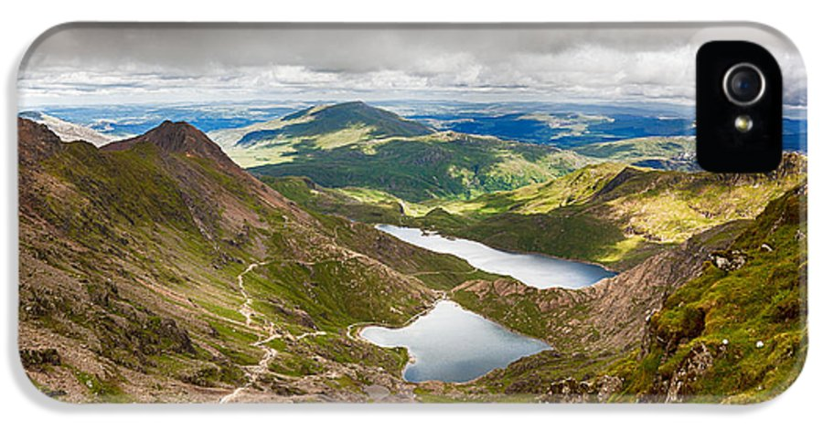 Beautiful IPhone 5 Case featuring the photograph Stormy Skies Over Snowdonia by Jane Rix