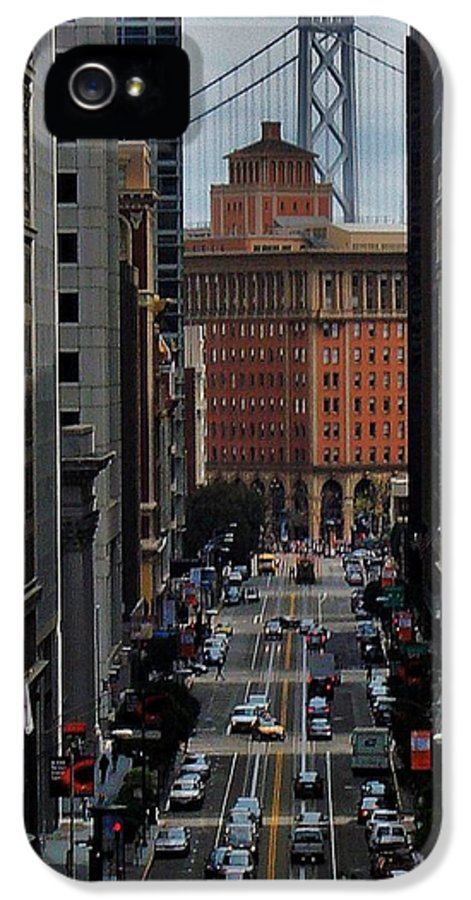 San Francisco IPhone 5 Case featuring the photograph Streets Of San Fran by Benjamin Yeager