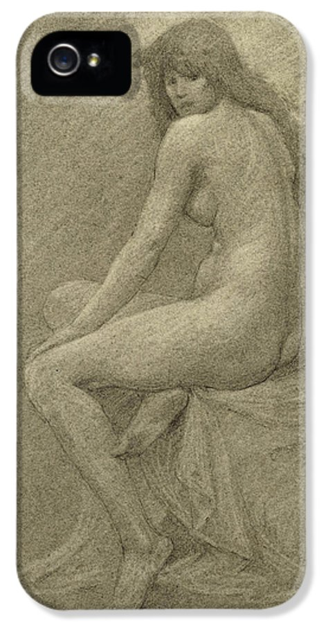 Study IPhone 5 Case featuring the drawing Study For Lilith by Robert Fowler