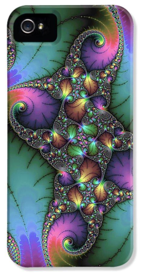 Fractal IPhone 5 Case featuring the digital art Stunning Mandelbrot Fractal by Matthias Hauser