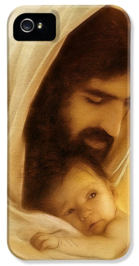 Jesus IPhone 5 Case featuring the digital art Suffer The Little Children by Ray Downing