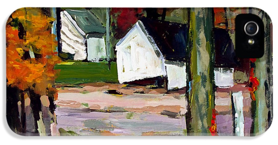 Fall IPhone 5 Case featuring the painting Sugar Camp Repost by Charlie Spear