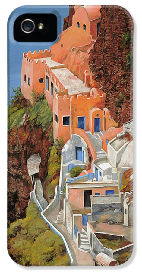Greece IPhone 5 Case featuring the painting sul mare Greco by Guido Borelli