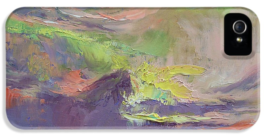 Summer IPhone 5 Case featuring the painting Summer Evening by Michael Creese
