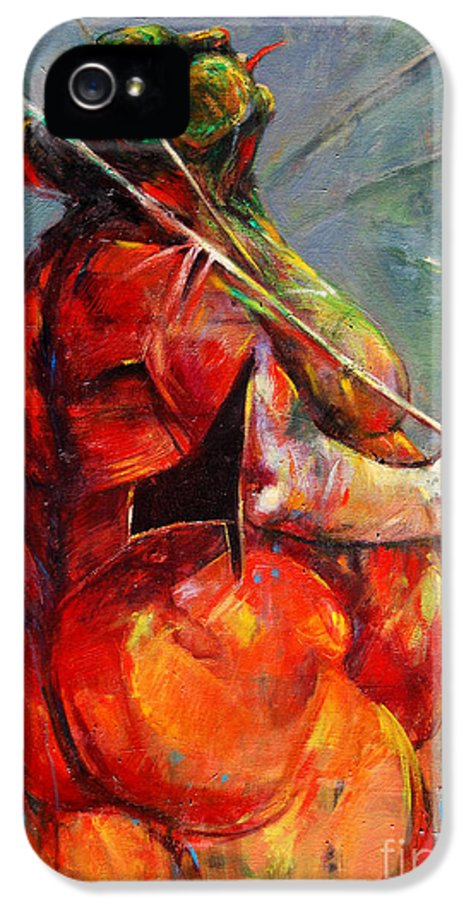 Summer Fantasy IPhone 5 / 5s Case featuring the painting Summer Fantasy by Michal Kwarciak