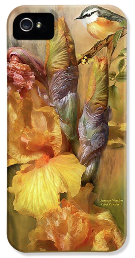 Iris IPhone 5 Case featuring the mixed media Summer Wonders by Carol Cavalaris