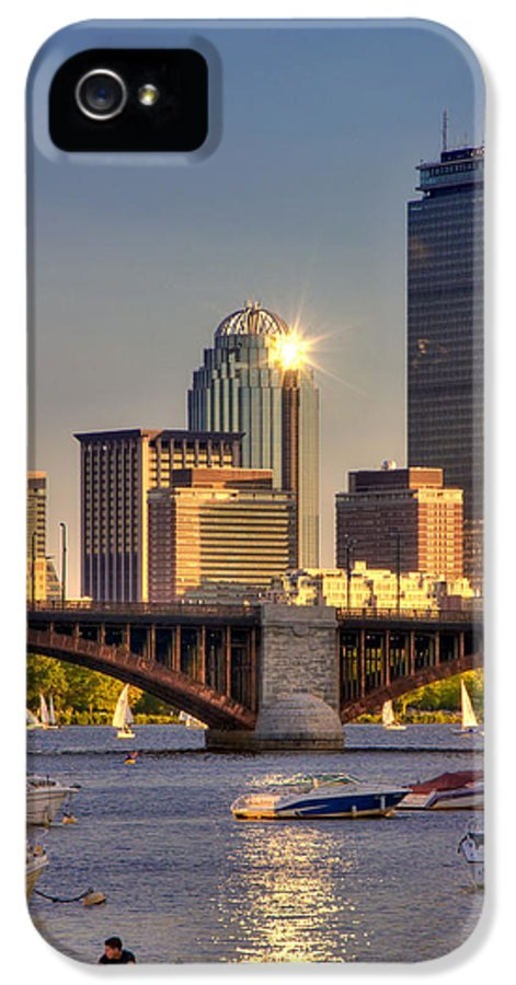 Boston IPhone 5 Case featuring the photograph Sunkissed Prudential - Boston by Joann Vitali