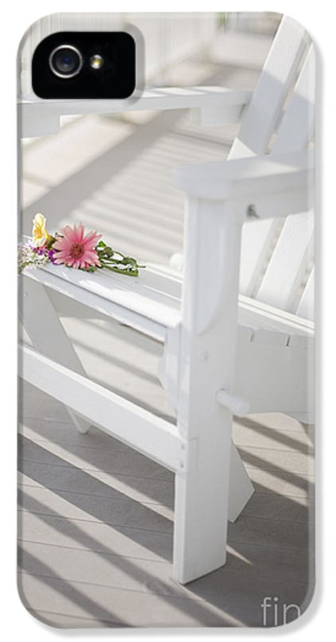 Porch IPhone 5 Case featuring the photograph Sunny Porch by Diane Diederich