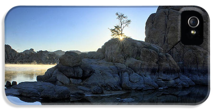The Dells IPhone 5 Case featuring the photograph Sunrise At Watson Lake by Dan Myers