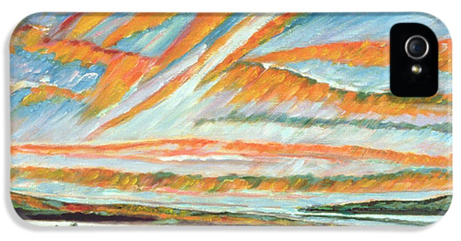 Morning IPhone 5 Case featuring the painting Sunrise Les Eboulements Quebec by Patricia Eyre