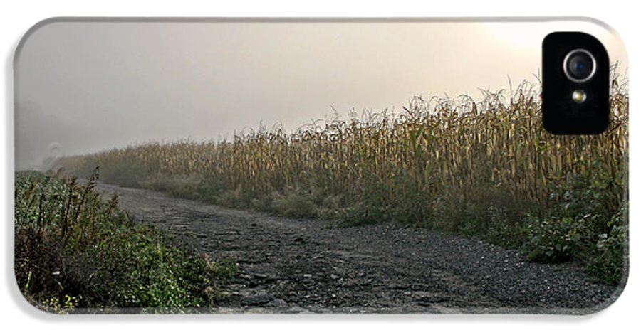 Morning IPhone 5 Case featuring the photograph Sunrise Over Country Road by Olivier Le Queinec