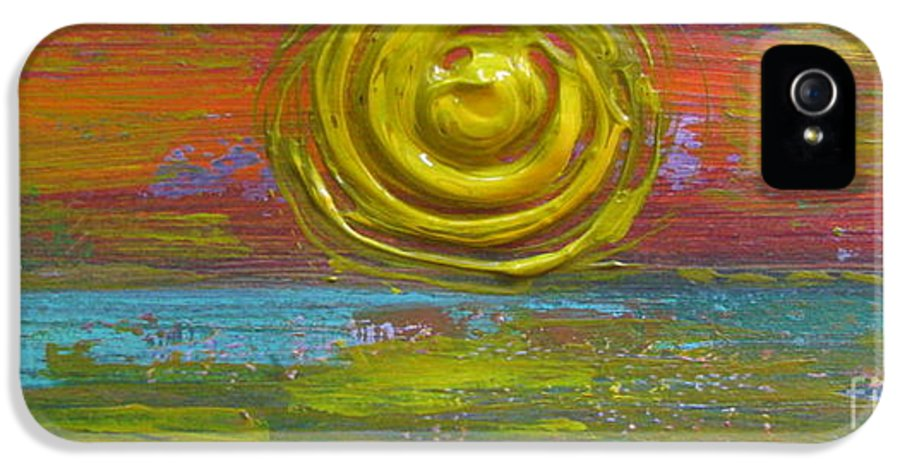 Sunrise Sunset 1 IPhone 5 Case featuring the painting Sunrise Sunset 1 by Jacqueline Athmann
