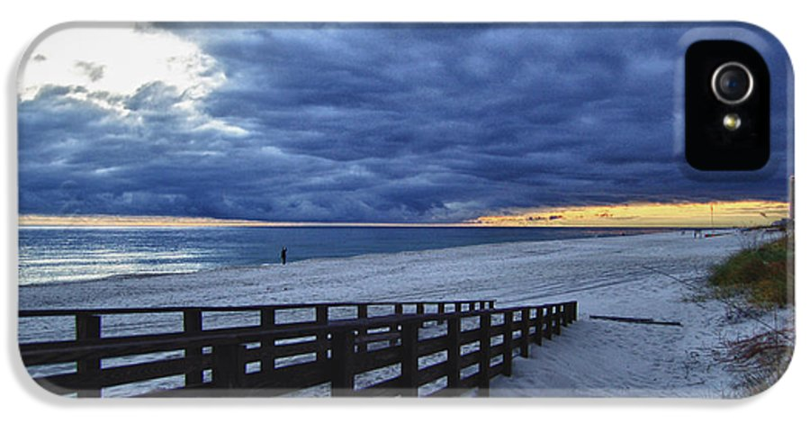 Alabama IPhone 5 Case featuring the digital art Sunset Boardwalk by Michael Thomas