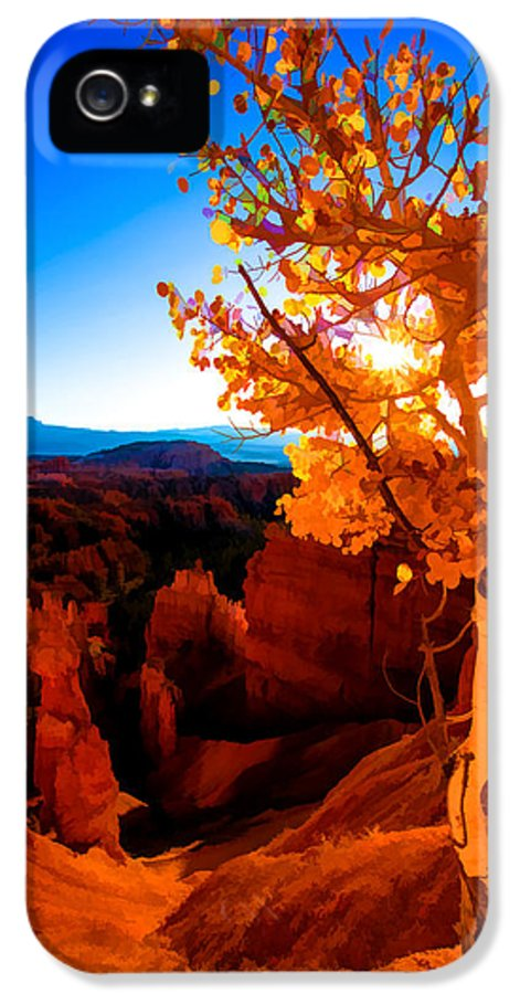American IPhone 5 Case featuring the digital art Sunset Fall by Chad Dutson