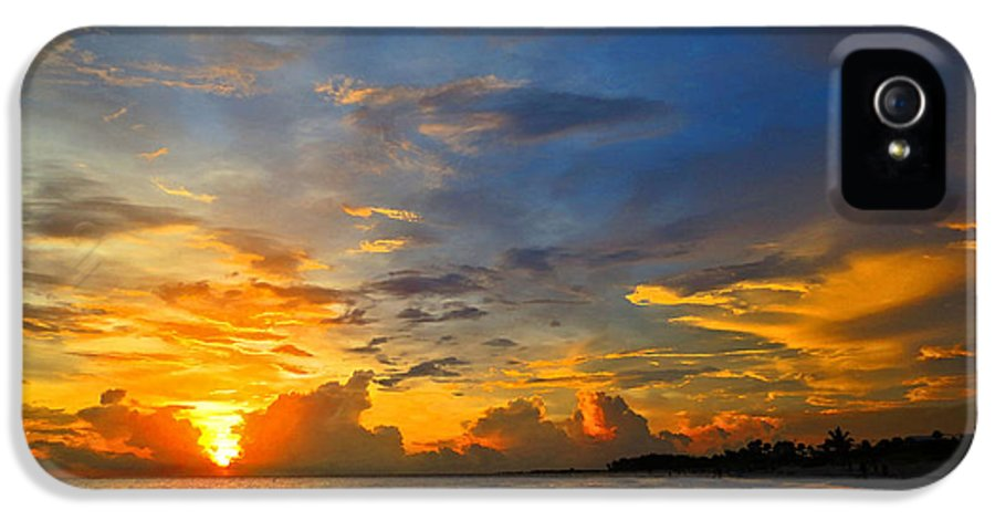 Sunset IPhone 5 Case featuring the painting Sunset In Paradise - Beach Photography By Sharon Cummings by Sharon Cummings