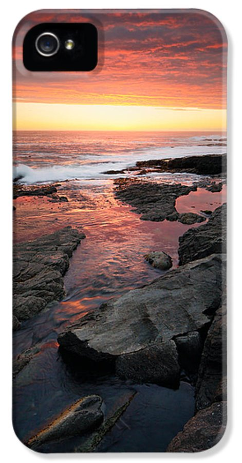 Ocean IPhone 5 Case featuring the photograph Sunset Over Rocky Coastline by Johan Swanepoel