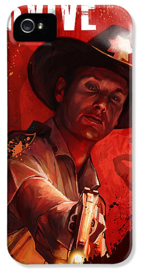 Rick IPhone 5 Case featuring the digital art Survive by Steve Goad