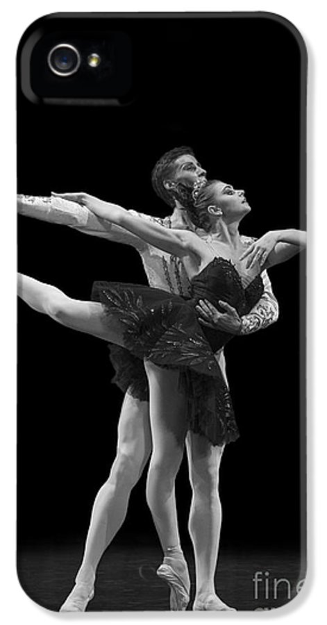 Hermitage IPhone 5 Case featuring the photograph Swan Lake Black Adagio Russia by Clare Bambers