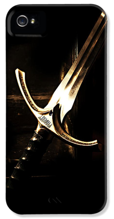 Glamdring IPhone 5 Case featuring the painting Sword Of Gandalf by Christopher Gaston