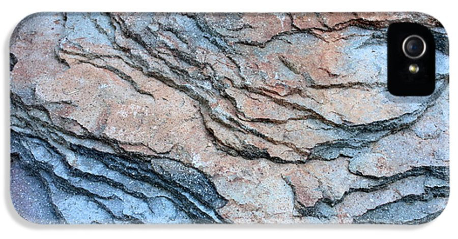 Nature Abstract IPhone 5 Case featuring the photograph Tahoe Rock Formation by Carol Groenen