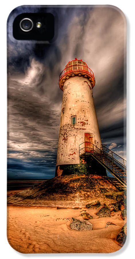 Beach IPhone 5 Case featuring the photograph Talacre Lighthouse by Adrian Evans