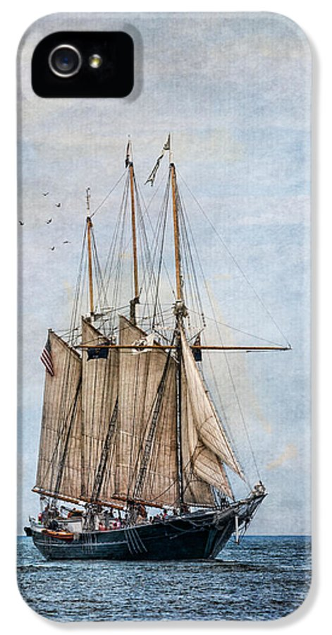 Denis Sullivan IPhone 5 Case featuring the photograph Tall Ship Denis Sullivan by Dale Kincaid