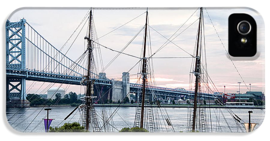Tall IPhone 5 Case featuring the photograph Tall Ship Gazela At Penns Landing by Bill Cannon