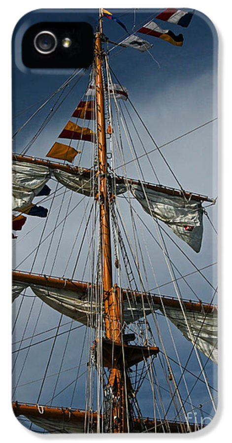 Tall Ship IPhone 5 Case featuring the photograph Tall Ship Mast by Suzanne Gaff