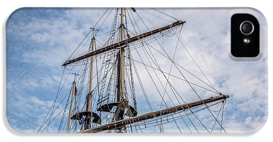 Tall Ship Masts IPhone 5 Case featuring the photograph Tall Ship Masts by Dale Kincaid