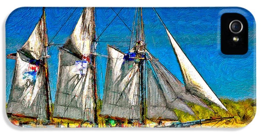 Tall Ship IPhone 5 Case featuring the photograph Tall Ship Paint by Steve Harrington