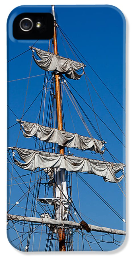 Oxnard IPhone 5 Case featuring the photograph Tall Ship Rigging by Art Block Collections