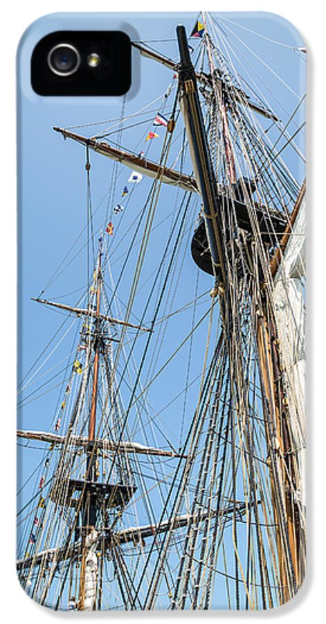 Tall Ship Rigging IPhone 5 Case featuring the photograph Tall Ship Rigging by Dale Kincaid