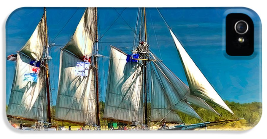 Tall Ship IPhone 5 Case featuring the photograph Tall Ship Vignette by Steve Harrington
