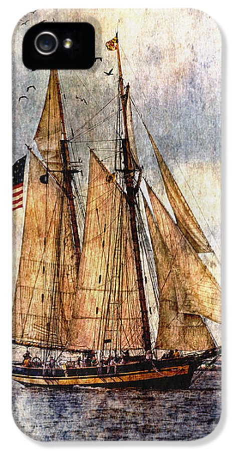 Pride Of Baltimore Ii IPhone 5 Case featuring the digital art Tall Ships Art by Dale Kincaid
