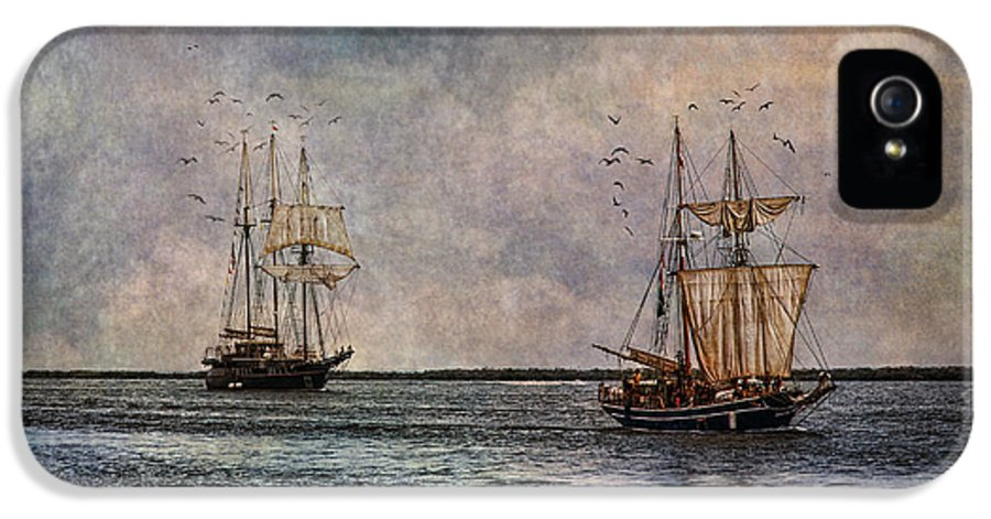 Tall Ships IPhone 5 Case featuring the photograph Tall Ships by Dale Kincaid
