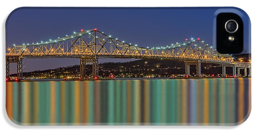 America IPhone 5 Case featuring the photograph Tappan Zee Bridge Reflections by Susan Candelario