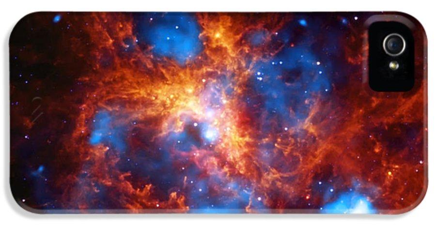 Tarantula Nebula IPhone 5 Case featuring the photograph Tarantula Nebula by Jennifer Rondinelli Reilly - Fine Art Photography
