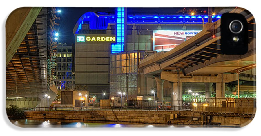 Park IPhone 5 Case featuring the photograph Td Garden - Boston by Joann Vitali