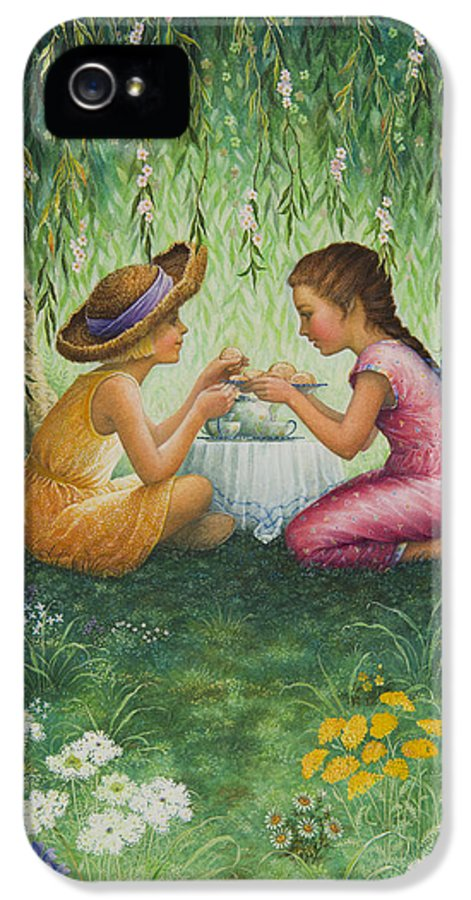 Tea Party IPhone 5 Case featuring the painting Tea Party by Lynn Bywaters