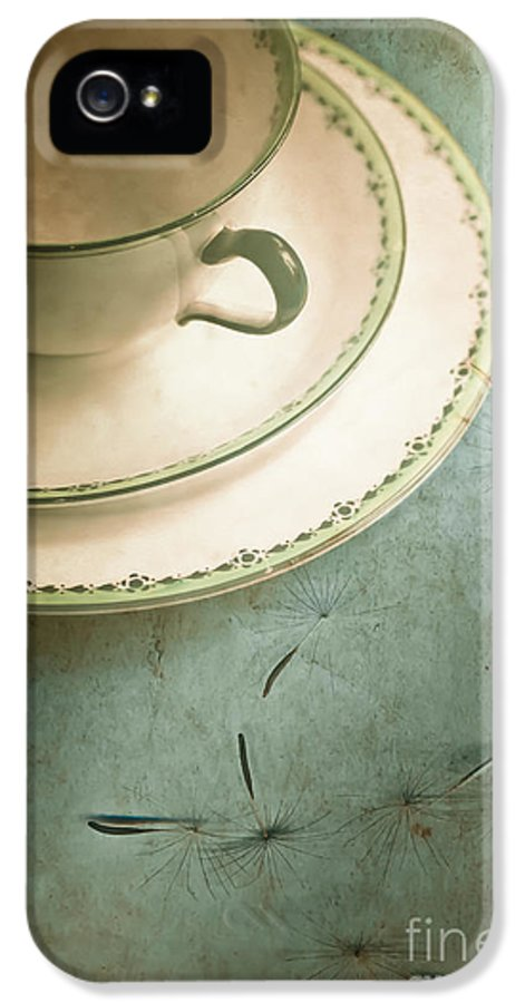 Aged IPhone 5 Case featuring the photograph Tea Time by Jan Bickerton