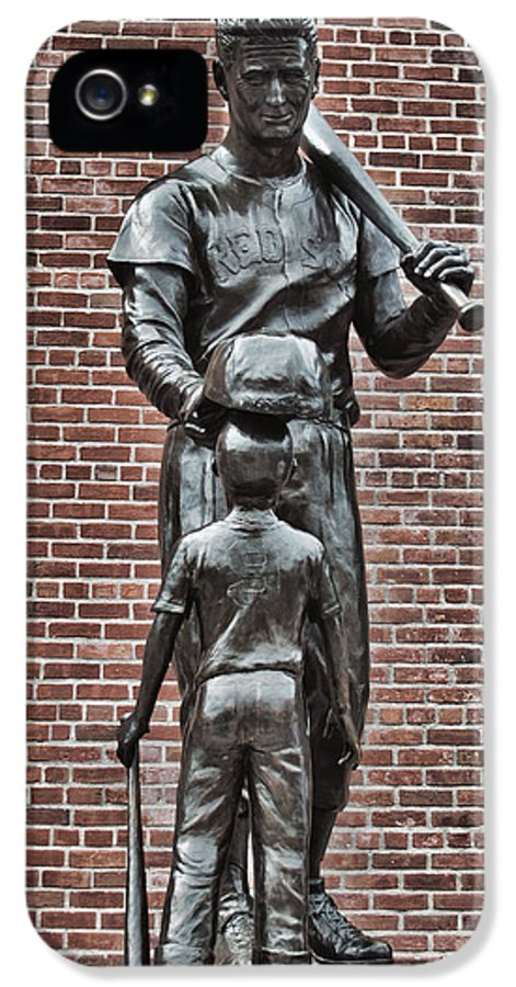 Ted Williams Statue IPhone 5 Case featuring the photograph Ted Williams Statue - Boston by Joann Vitali