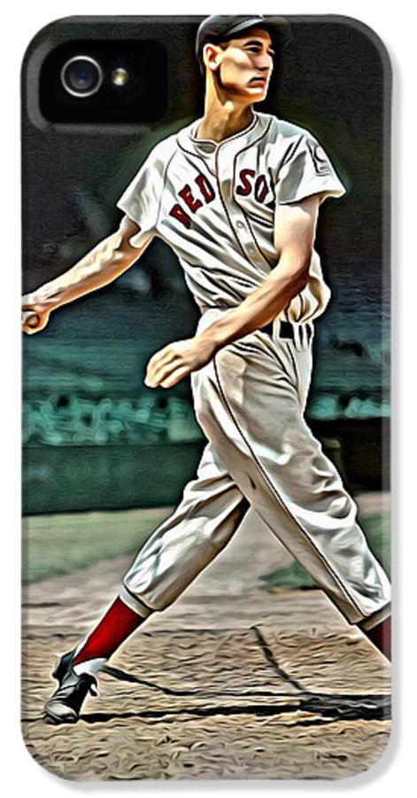 Mlb IPhone 5 Case featuring the painting Ted Williams Painting by Florian Rodarte
