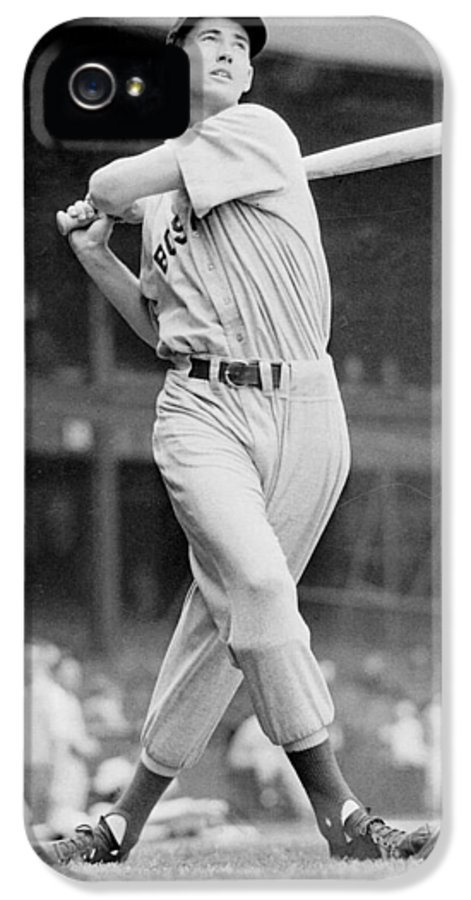Ted IPhone 5 Case featuring the photograph Ted Williams Swing by Gianfranco Weiss