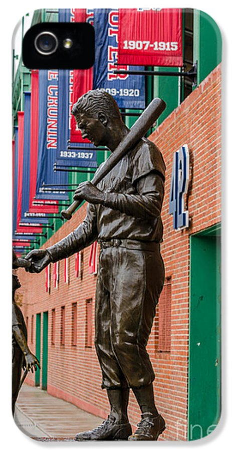 Ted Williams IPhone 5 Case featuring the photograph Teddy Ballgame by Mike Ste Marie