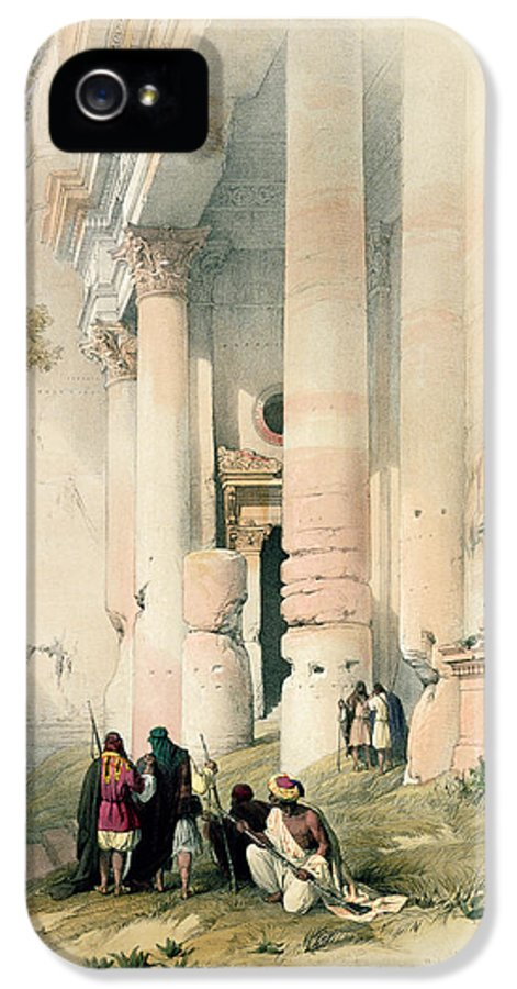 Treasury IPhone 5 Case featuring the painting Temple Called El Khasne by David Roberts