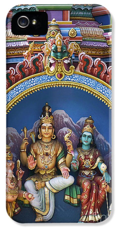 Shiva IPhone 5 Case featuring the photograph Temple Deity Statues India by Tim Gainey