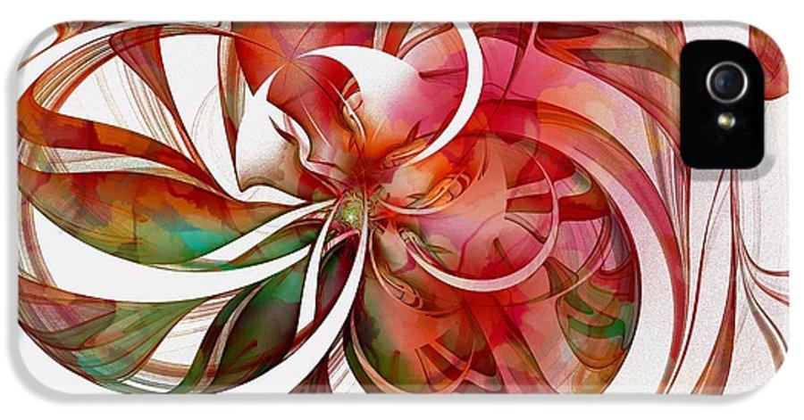 Digital Art IPhone 5 Case featuring the digital art Tendrils 05 by Amanda Moore